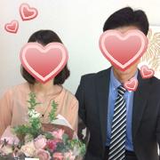 新婦42歳看護師さん、入会して11カ月目の成婚です。